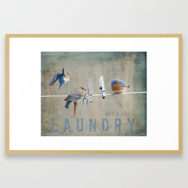 Laundry Day Let's Do Laundry Framed Art Print