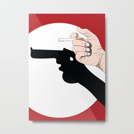 Smoking is Harmful Digital Sketch Abstract Illustration Metal Print