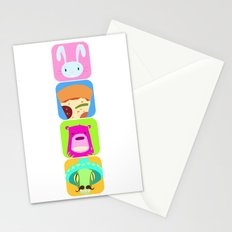 Floating BunnyHead Pop Square Stationery Cards