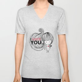 I Hate You / First Unisex V-Neck
