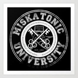 Miskatonic University Emblem (Dark version) Art Print