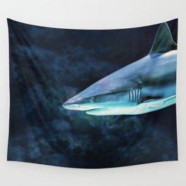 Gray Shark Head (Color) Wall Tapestry