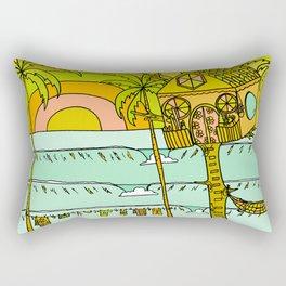 Tree House Free House surf paradise Rectangular Pillow