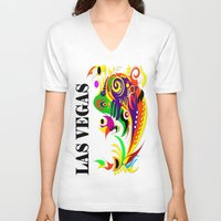 las vegas V-neck T-shirts featuring LAS VEGAS  by Robleedesigns