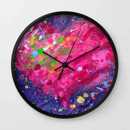 Playful Heart Wall Clock