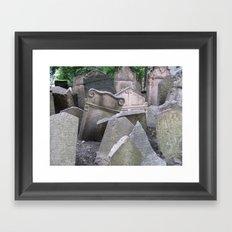Graveyard in Prague Framed Art Print