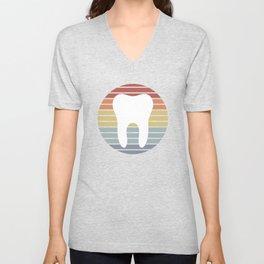 Dentist White Tooth Vintage Design Unisex V-Neck