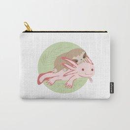 Cute Axolotl Sloth Water Aquarium Pet Animal Gift Carry-All Pouch