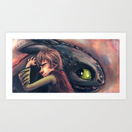 Gift of the Night Fury Art Print