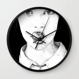 asc 228 - La Pureté (Purity is for madmen to make fools of us all) Wall Clock