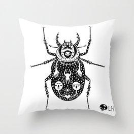 Diaboli Scarabæus - The Devil's Beetle Throw Pillow