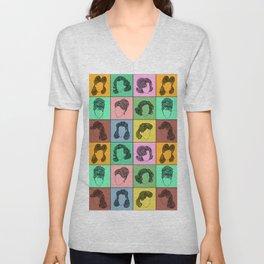 50 hairstyles Unisex V-Neck