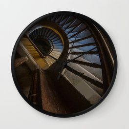 Abandoned Wooden Staircase Wall Clock