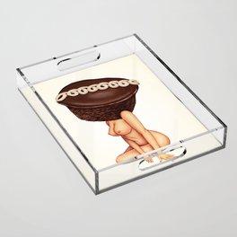 Cupcake Girl Acrylic Tray