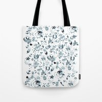 tattoos Tote Bags featuring TATTOOS by Stylegrafico