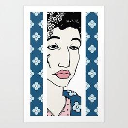 Blue Flowers of China Art Print