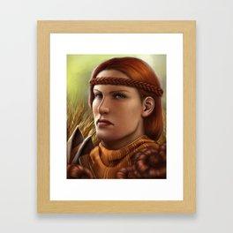 Copper Marigold Framed Art Print