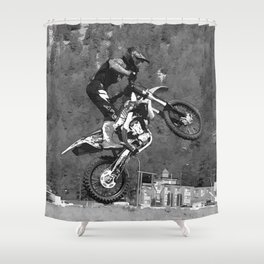 MotoX  Flier Shower Curtain
