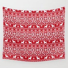 Cairn Terrier dog breed pet pattern fair isle christmas sweater cute holiday dog lover Wall Tapestry