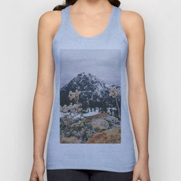 Mountains + Flowers Unisex Tank Top