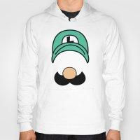 luigi Hoodies featuring Misfit Luigi by cudatron