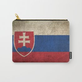 Old and Worn Distressed Vintage Flag of Slovakia Carry-All Pouch