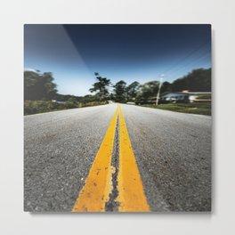 asphalt street  Metal Print