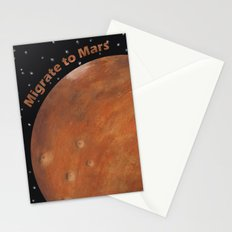 Migrate To Mars Stationery Cards