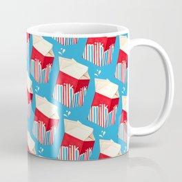 Milk Pattern - Blue Coffee Mug