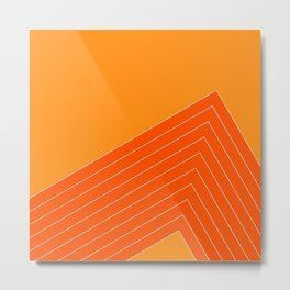 Orange Crush Range Metal Print