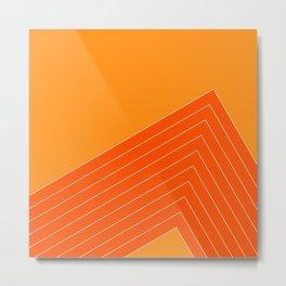 Orange Crush Range Metal Print