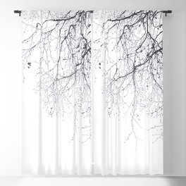 BLACK BRANCHES Blackout Curtain