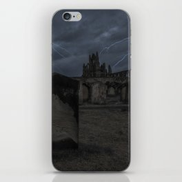 Whitby Abbey darkness iPhone Skin