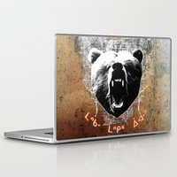 medicine Laptop & iPad Skins featuring Bear Medicine by Cree Thunder