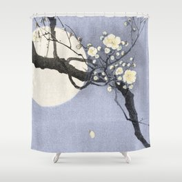 Full Moon and blossom Shower Curtain
