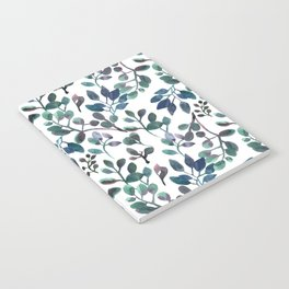 Jade and Succulent Watercolor Plant Pattern Notebook