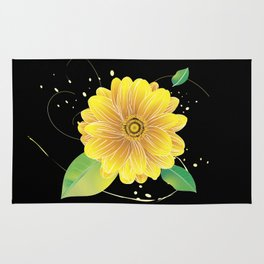 Helianthus Midnight - The Color of Vitality, Intelligence, and Happiness Rug