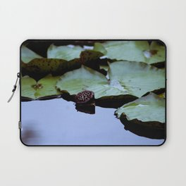 Lotus Seed Pod with Lily Pads Laptop Sleeve