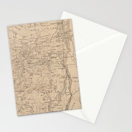 Vintage Map of The Adirondack Mountains (1874) Stationery Cards