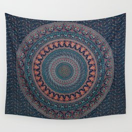 AamiraA Hippie Blue Peacock Mandala Tapestry Bohemian Wall Hanging Throw Dorm Decor Wall Tapestry