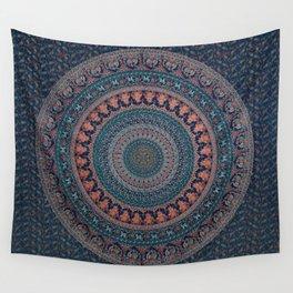 AamiraA Hippie Blue Peacock Mandala Tapestry Bohemian Wall Hanging Throw Dorm Decor Wall Tapestry