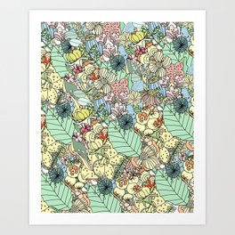 Nature Bloom Pattern Art Print