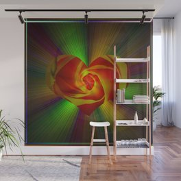 Abstract in perfection - Rose Wall Mural