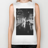 new york city Biker Tanks featuring New York City Noir by Vivienne Gucwa