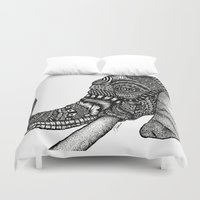 india Duvet Covers featuring India by Alabaster & Ink