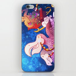 Christmas Yeti and the Dodos iPhone Skin