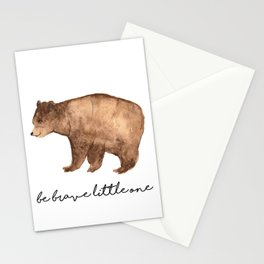 Be Brave Little One - Bear Watercolor Stationery Cards