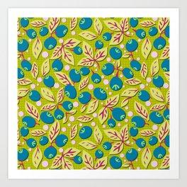 Blueberry Preserves Art Print