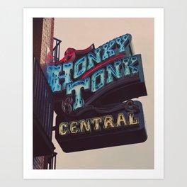 Nashville Honky Tonk  Art Print