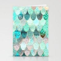 mermaid Stationery Cards featuring SUMMER MERMAID by Monika Strigel®